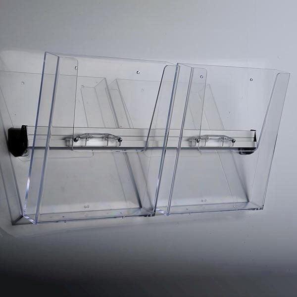 Prospekthalter für Wandmontage 2 x DIN A4 Format 1