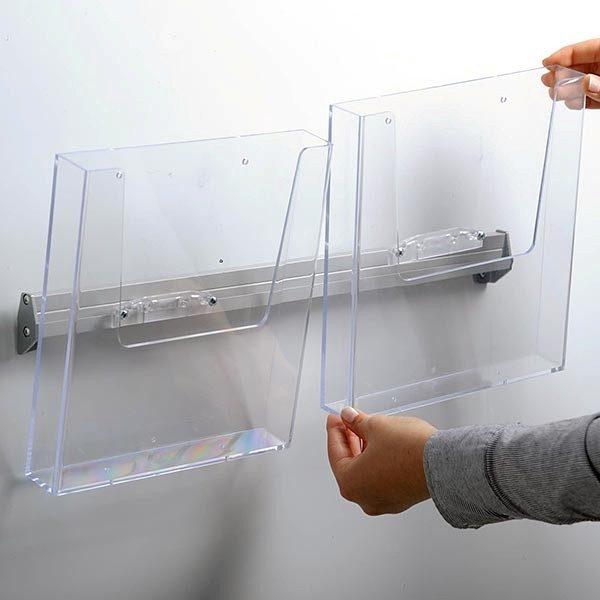 Prospekthalter für Wandmontage 2 x DIN A5 Format 3