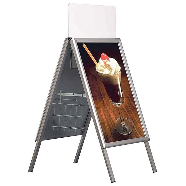Prospektkorb DIN A4 für Kundenstopper A Board Classic DIN A4 2