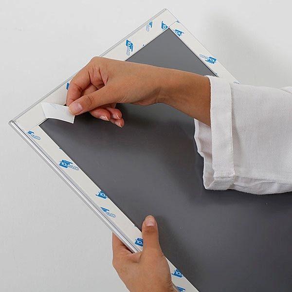 Selbstklebender Klapprahmen 25mm DIN A2 Postermaß 6