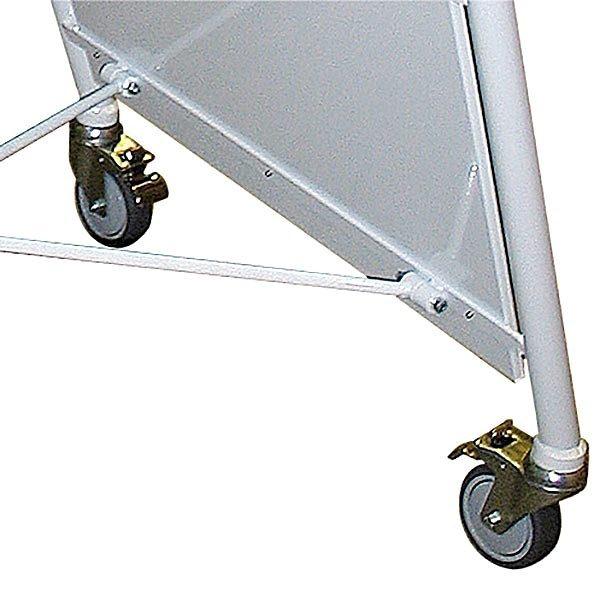 Stahlrohr Kundenstopper New Gotik Lux 32 mm weiß DIN A1 Postermaß 2