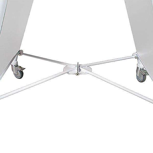 Stahlrohr Kundenstopper New Gotik Lux 32 mm weiß DIN A1 Postermaß 4