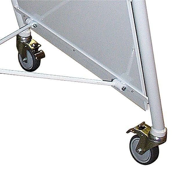 Stahlrohr Kundenstopper New Gotik Lux 32 mm weiß DIN B2 Postermaß 2