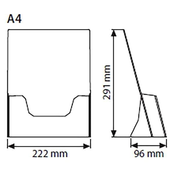 Tischprospekthalter DIN A4 Hochformat VPE 20 Stück 2