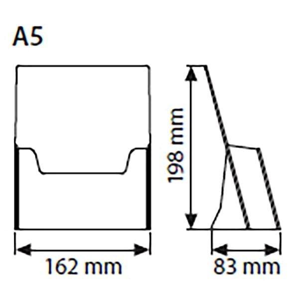 Tischprospekthalter DIN A5 Hochformat VPE 40 Stück 2