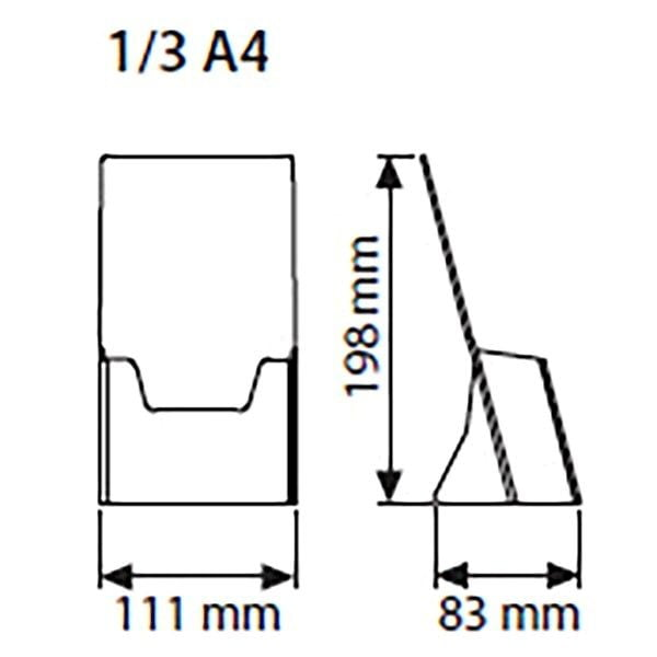Tischprospekthalter DIN lang Hochformat 100 x 210 mm 2