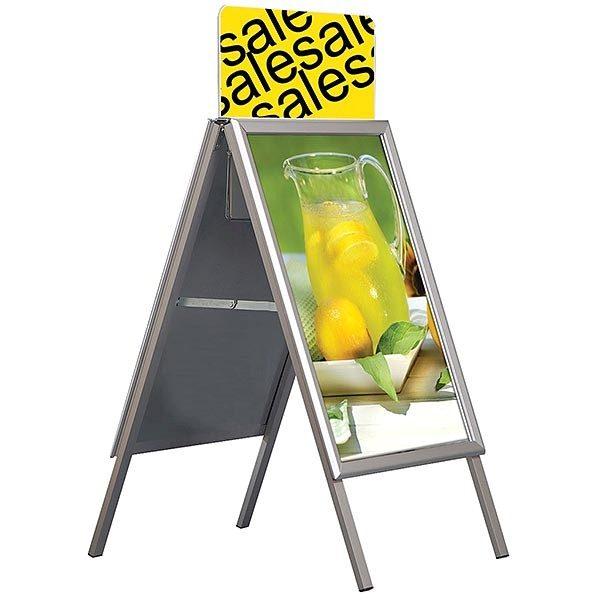 Topschild für Kundenstopper A Board Classic DIN A0 Postermaß 5