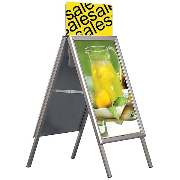 Topschild für Kundenstopper A Board Classic DIN A2 Postermaß 5