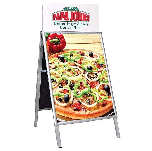Topschild für Kundenstopper A Board Classic DIN B2 Postermaß 3