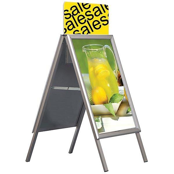 Topschild für Kundenstopper A Board Classic DIN B2 Postermaß 5
