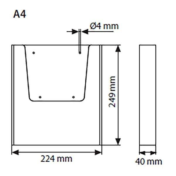 Wandprospekthalter DIN A4 Hochformat VPE 30 Stück 2