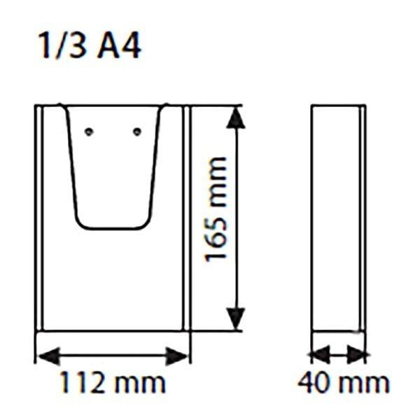 Wandprospekthalter DIN lang Hochformat 100 x 210 mm 2