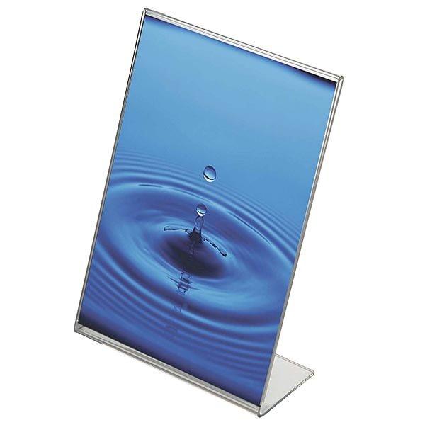 Acryl L-Aufsteller DIN A4 Hochformat, VPE 40 Stück