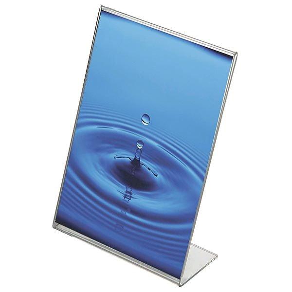 Acryl L-Aufsteller DIN A5 Hochformat, VPE 40 Stück