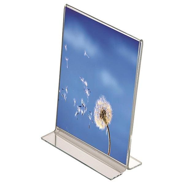 Acryl T-Aufsteller DIN A5 Hochformat, VPE 30 Stück