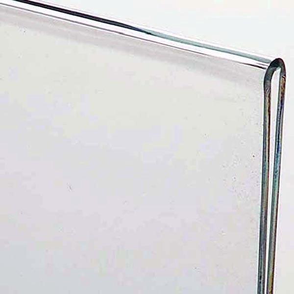 Acryl T-Aufsteller DIN A6 Hochformat, VPE 40 Stück