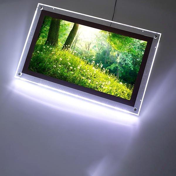acryled leuchtrahmen einseitig din a2 postermaß