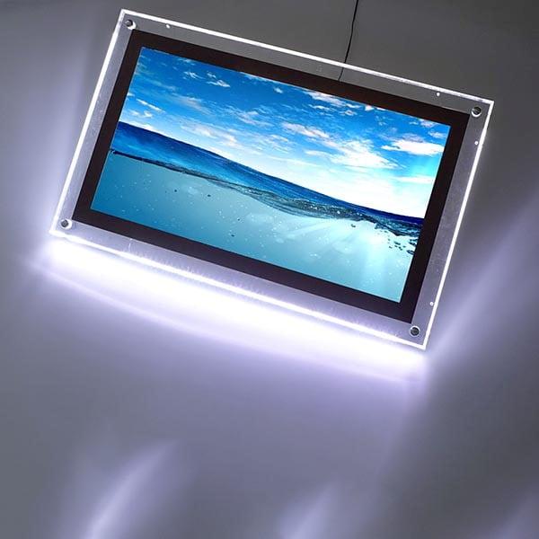 acryled leuchtrahmen einseitig din b2 postermaß