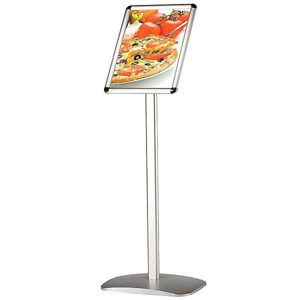 dekorativer infoständer rondo din a4 postermaß