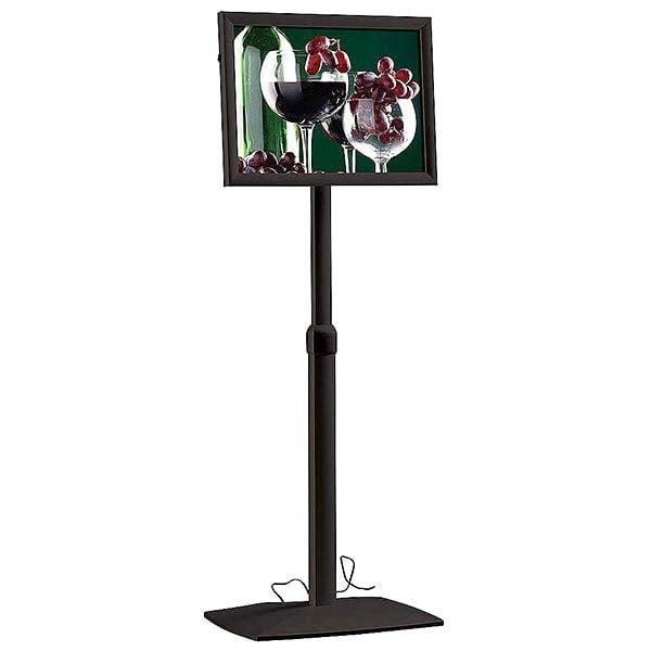 Flexibler LED Infoständer schwarz DIN A4 Postermaß