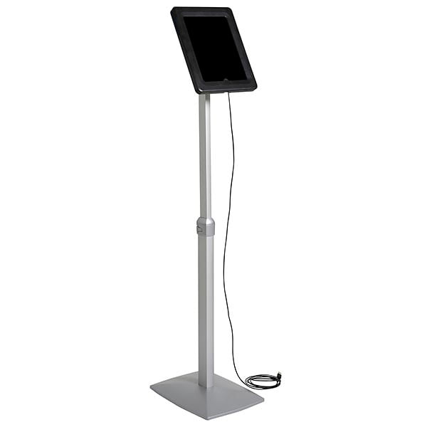 """flexibler tablet infoständer mit verstellbarer höhe schwarz für ipad 1 2 3 4 air samsung galaxy und 9.7"""" 10.1"""" tablets"""