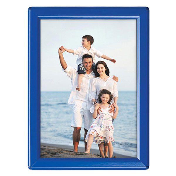 Klapprahmen Opti Frame Blau DIN A6 Postermaß mit Rückenstütze