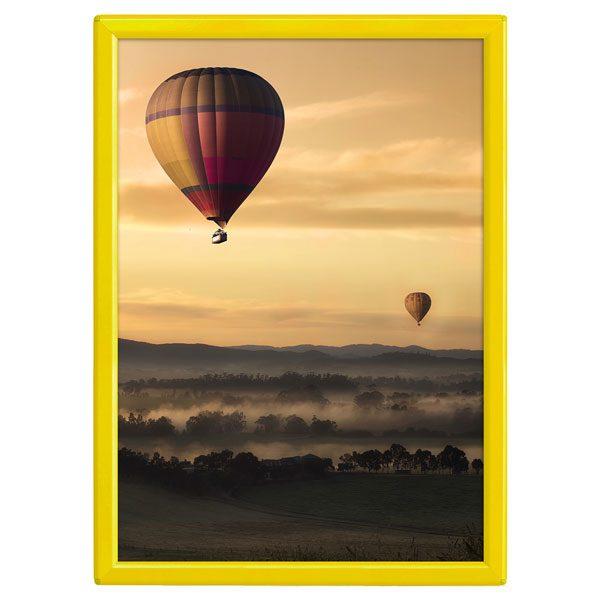 Klapprahmen Opti Frame Gelb DIN A4 Postermaß mit Rückenstütze