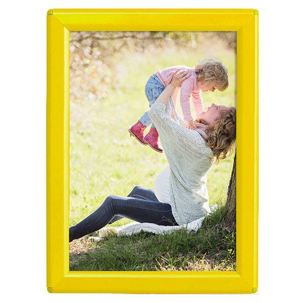 Klapprahmen Opti Frame Gelb DIN A6 Postermaß mit Rückenstütze