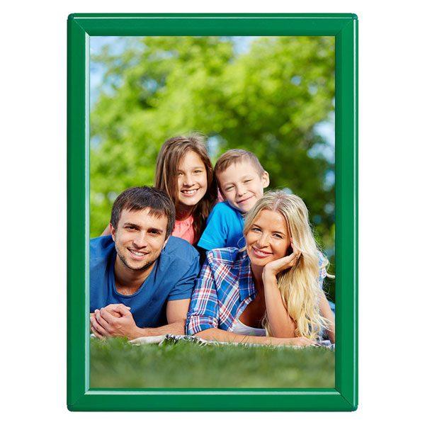 Klapprahmen Opti Frame Grün DIN A5 Postermaß mit Rückenstütze