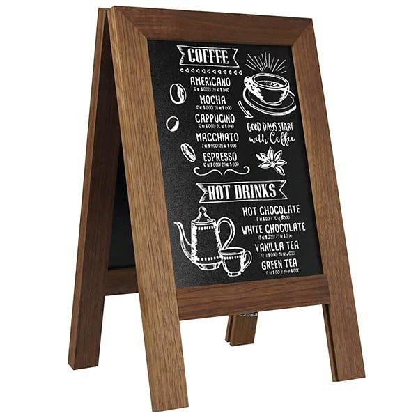 Kundenstopper Holz Mini Noir DIN A4 Tischaufsteller