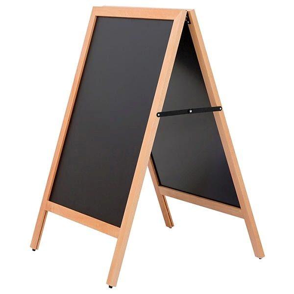 kundenstopper holz standard für den außenbereich 600 x 780 mm schreibfläche