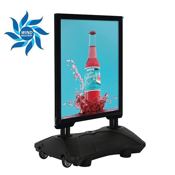 WindPro schwarz Wind Resistent Getränke Werbung