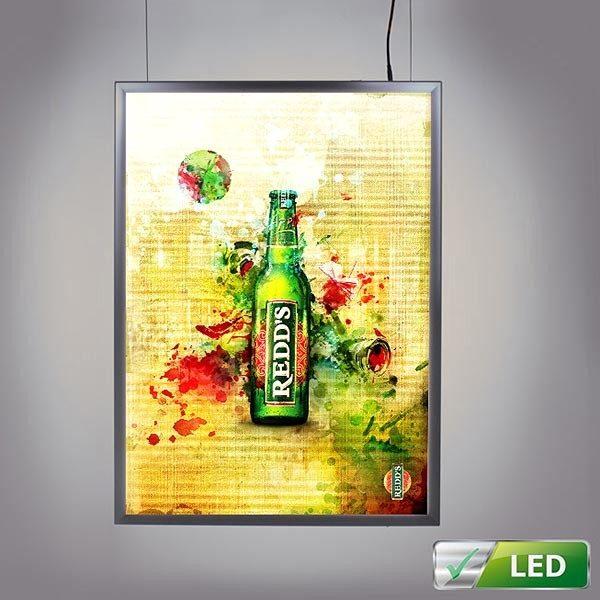 LED Leuchtrahmen Standard doppelseitig 25mm Profil DIN A2 Postermaß, doppelseitig