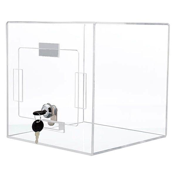 losbox transparent 205 x 205 x 205 cm aus acryl abschließbar
