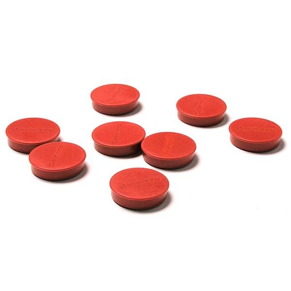 Magnete rot 35mm 8 Stück