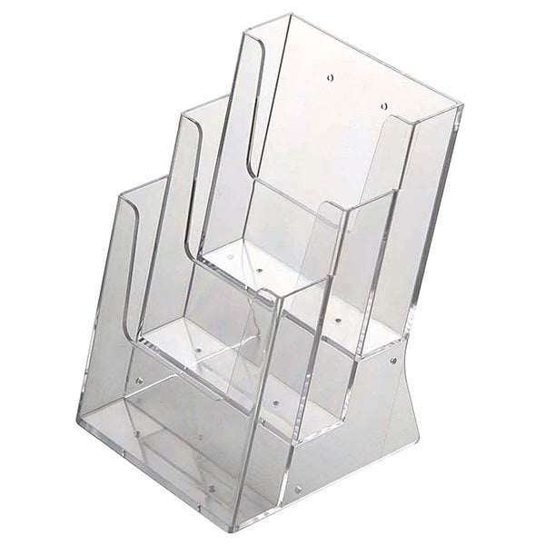 mehrfach tischprospekthalter din a4 x 3 hochformat vpe 4 stück