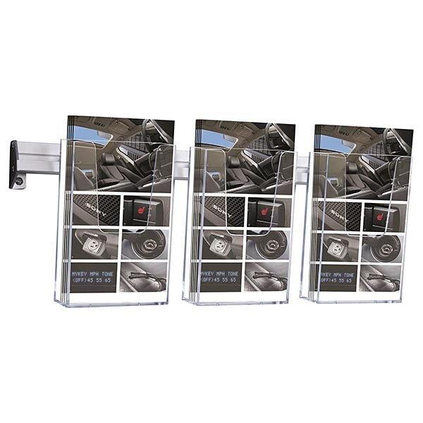 Prospekthalter für Wandmontage 3 x DIN lang Format (100 x 210 mm)