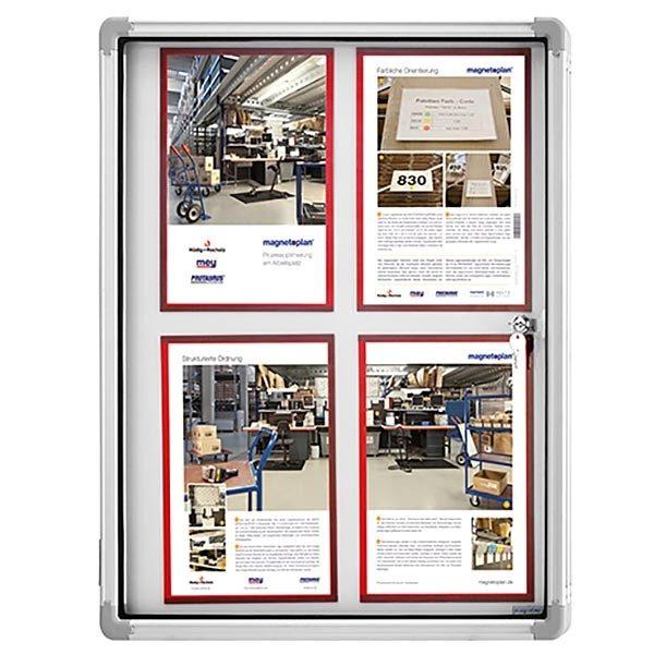 schaukasten magnetoplan indoor 12 x din a4 1120x1085mm