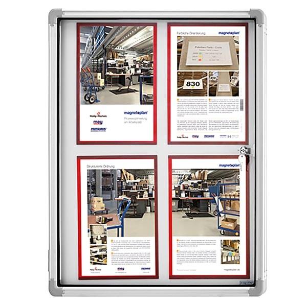 Schaukasten Magnetoplan Indoor 6x DIN A4 870x750mm