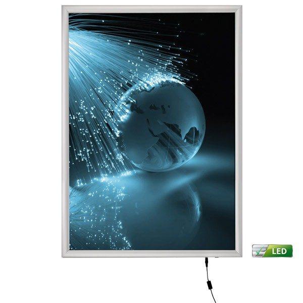 led leuchtrahmen premium einseitig 25mm din a1 postermaß einseitig