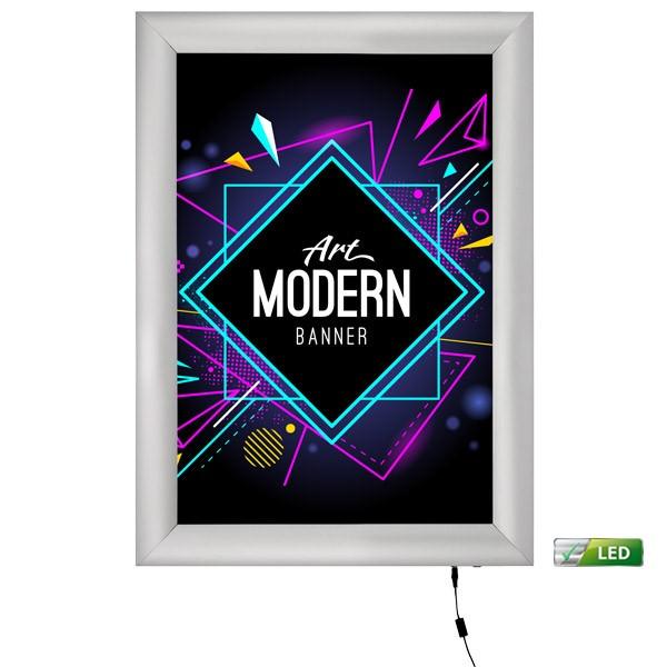 led leuchtrahmen premium einseitig 25mm din a4 postermaß einseitig