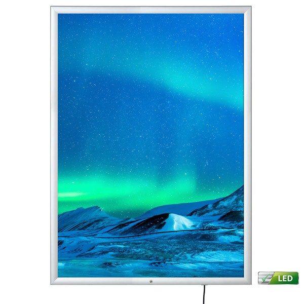 led leuchtrahmen premium outdoor 35mm din a0 postermaß einseitig