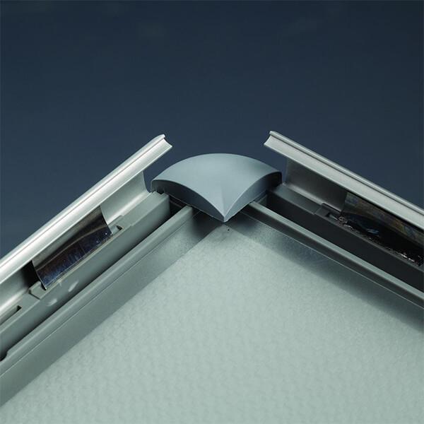 klapprahmen opti frame 25mm din a3 postermaß rondo ecken 25mm profil obere profile silber eloxiert 2