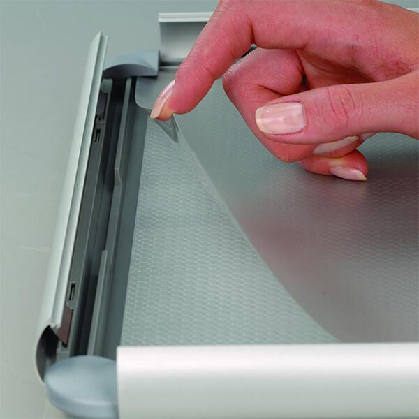 klapprahmen opti frame 25mm din a3 postermaß rondo ecken 25mm profil obere profile silber eloxiert 3