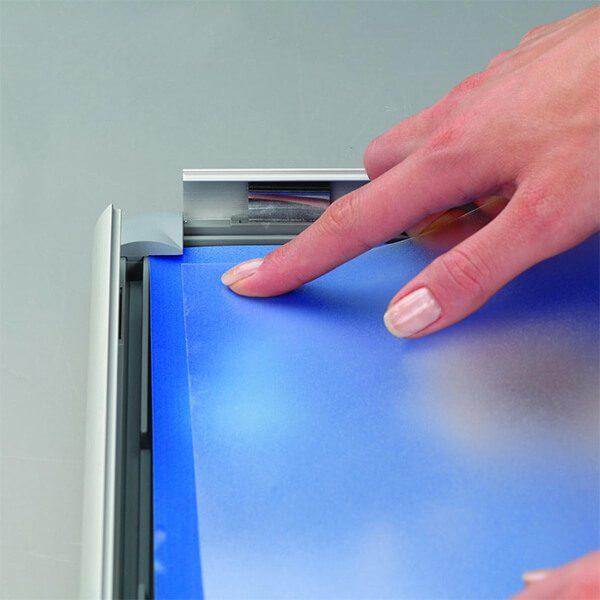 klapprahmen opti frame 25mm din a3 postermaß rondo ecken 25mm profil obere profile silber eloxiert 4