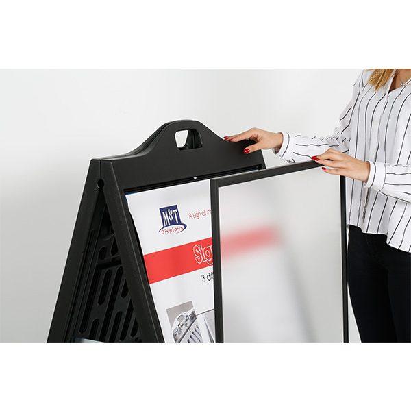 kundenstopper signpro schwarz 2