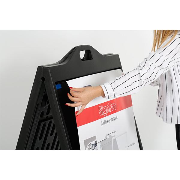 kundenstopper signpro schwarz 3