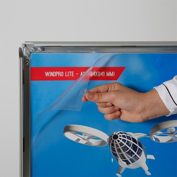 kundenstopper windpro slim silber din a0 postermaß 4