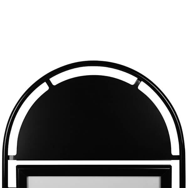 kundenstopper wheel schwarz din a1 postermaß 3