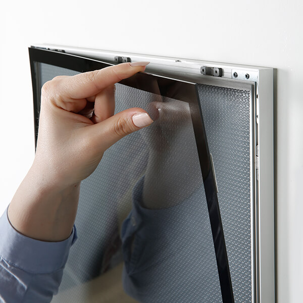 magnet posterrahmen silber din a1 postermaß 10
